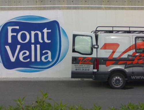Rotulación pintura, Font Vella