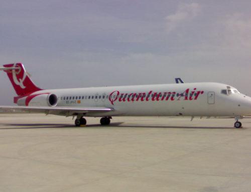 Rotulación avión. Compañía Quantum Air
